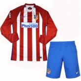 16-17 Atletico Madrid Home LFP Version Long Sleeve Jersey Kit(Shirt+Short)