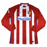 16-17 Atletico Madrid Home LFP Version Long Sleeve Jersey Shirt
