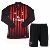 16-17 AC Milan Home Long Sleeve Jersey Kit(Shirt+Short)