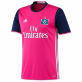 16-17 Hamburg Away Pink Soccer Jersey Shirt
