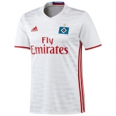 16-17 Hamburg Home White Soccer Jersey Shirt