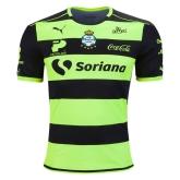 16-17 Santos Laguna Away Black&Green Soccer Jersey Shirt