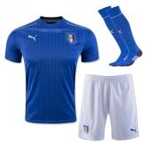 2016 Italy Home Blue Soccer Jersey Whole Kit(Shirt+Short+Socks)