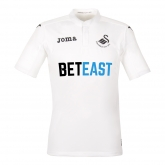 16-17 Swansea City Home White Soccer Jersey Shirt