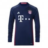 16-17 Bayern Munich Navy Goalkeeper Long Sleeve Jersey Shirt