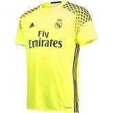 16-17 Real Madrid Goalkeeper Yellow Jersey Shirt