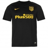 16-17 Atletico Madrid Away Black Soccer Jersey Shirt(Player Version)