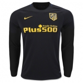 16-17 Atletico Madrid Away Black Long Sleeve Jersey Shirt
