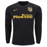 16-17 Atletico Madrid Away Black Long Sleeve Jersey Shirt