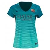 16-17 Barcelona Third Away Green Women's Jersey Shirt