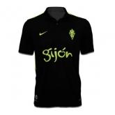 16-17 Sporting Gijón Away Black Soccer Jersey Shirt