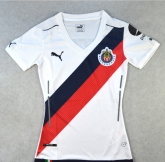 16-17 Deportivo Guadalajara Away White Women's Jersey Shirt