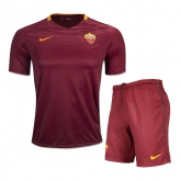 16-17 Roma Home Red Soccer Jersey Kit(Shirt+Short)