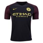 16-17 Manchester City Away Black Soccer Jersey Shirt