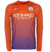 16-17 Manchester City Third Away Long Sleeve Jersey Shirt