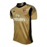 16-17 AC Milan Goalkeeper Golden Soccer Jersey Shirt
