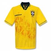 1993-1994 Brazil Home Yellow Retro Jersey Shirt