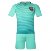 16-17 Barcelona Away Green Jersey Kit(Without Logo)