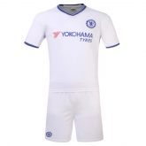 16-17 Chelsea Away White Jersey Kit(Without Logo)