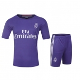 16-17 Real Madrid Training Purple Jersey Kit(Without Logo)