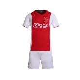 16-17 Ajax Home Red&White Jersey Kit(Without Logo)