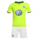 16-17 Wolfsburg Home Green Jersey Kit(Without Logo)