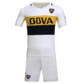 16-17 Boca Juniors Away White Jersey Kit(Without Logo)
