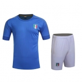 2016 Italy Home Blue Jersey Kit(Without Logo)