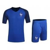 2016 France Home Blue Jersey Kit(Without Logo)