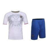 2016 Russia Away White Soccer Jersey Kit(Without Logo)