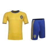 2016 Sweden Home Yellow Jersey Kit(Without Logo)