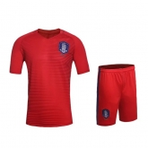 2016 South Korea Home Red Jersey Kit(Without Logo)