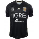 17-18 Tigres UANL Away Black Soccer Jersey Shirt