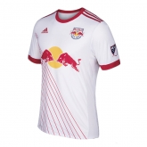 17-18 New York Red Bulls Home White Jersey Shirt