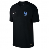 2017 France Third Away Black Soccer Jersey Shirt
