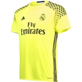 16-17 Real Madrid Goalkeeper Yellow Children's Jersey Kit(Shirt+Short)