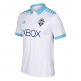 17-18 Seattle Sounders Away White Soccer Jersey Shirt