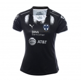 17-18 Monterrey Third Away Black Women's Jersey Shirt