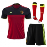 2016 Belgium Home Soccer Jersey Whole Kit(Shirt+Short+Socks)