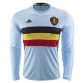 2016 Belgium Away Blue Long Sleeve Jersey Shirt