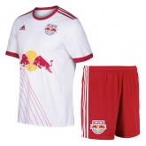 17-18 New York Red Bulls Home White Jersey Kit(Shirt+Short)