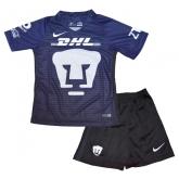 16-17 UNAM Pumas Third Away Black&Blue Children's Jersey Kit(Shirt+Short)