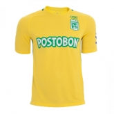 17-18 Atletico National Away Yellow Jersey Kit(Without Logo)