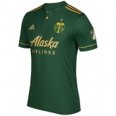 17-18 Portland Timbers Home Green Soccer Jersey Shirt