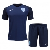 2017 England Third Away Navy Jersey Kit(Shirt+Short)