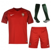 2016 Portugal Home Red Jersey Whole Kit(Shirt+Short+Socks)