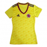 2017 Colombia Home Yellow Women's Jersey Shirt