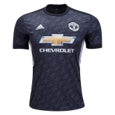 17-18 Manchester United Away Black Jersey Shirt