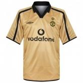 01-02 Manchester United Away Gold Centenary Jersey Shirt