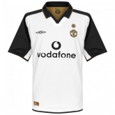 01-02 Manchester United Away White Centenary Jersey Shirt